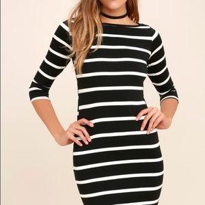NWOT Lulu's Striped Dress